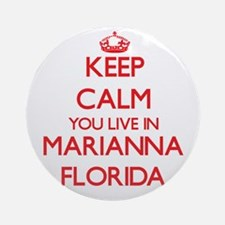 Keep calm you live in Marianna Fl Ornament (Round)