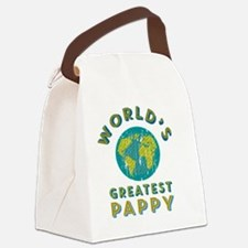 World's Greatest Pappy Canvas Lunch Bag