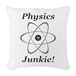 Physics Junkie Woven Throw Pillow