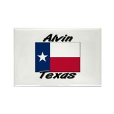 Alvin Texas Rectangle Magnet