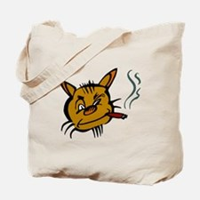 Cat Smoking Cigar Tote Bag