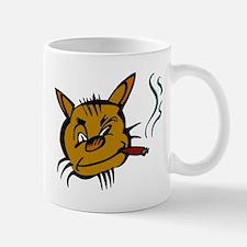 Cat Smoking Cigar Mugs