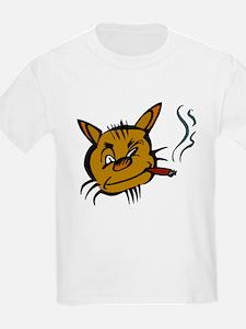 Cat Smoking Cigar T-Shirt