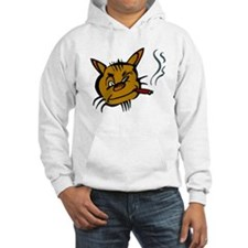 Cat Smoking Cigar Hoodie