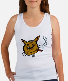 Cat Smoking Cigar Tank Top