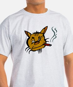 Cat Smoking Cigar T-Shirt