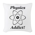 Physics Addict Woven Throw Pillow