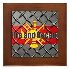Fire and Rescue Framed Tile