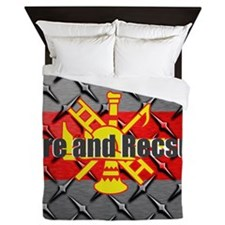 Fire and Rescue Queen Duvet