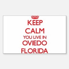 Keep calm you live in Oviedo Florida Decal