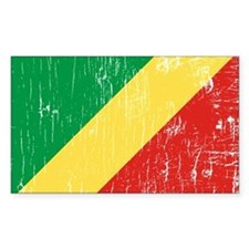 Vintage Republic of Congo Rectangle Decal