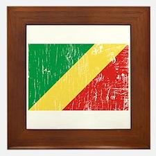 Vintage Republic of Congo Framed Tile