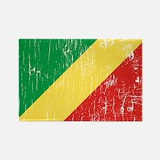 Vintage Republic of Congo Rectangle Magnet