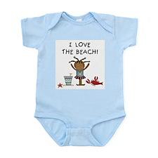 I Love the Beach Infant Bodysuit