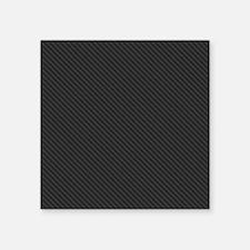 "Carbon Fiber look Square Sticker 3"" x 3"""