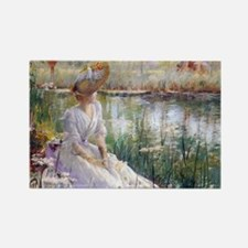 Victorian Day By A River Magnets