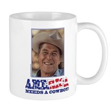 Ronald Reagan America Needs a Cowboy Small Mug