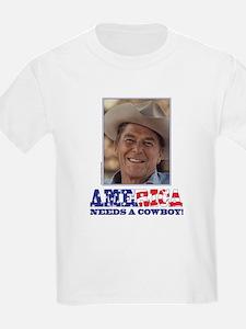 Ronald Reagan America Needs a Cowboy T-Shirt