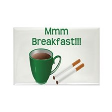 Coffee and Cigarettes Rectangle Magnet