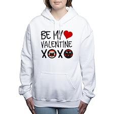 Be My Valentine Pugs XOX Women's Hooded Sweatshirt
