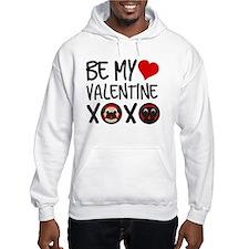 Be My Valentine Pugs XOXO Hoodie Sweatshirt