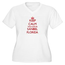 Keep calm you live in Sanibel Fl Plus Size T-Shirt