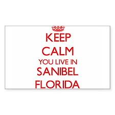 Keep calm you live in Sanibel Florida Decal