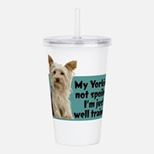 Yorkie Spoiled_T.png Acrylic Double-wall Tumbler