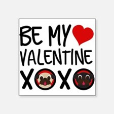 Be My Valentine Pugs XOXO Sticker