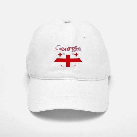 Georgia ribbon Baseball Baseball Cap