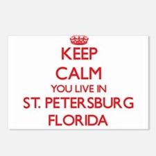 Keep calm you live in St. Postcards (Package of 8)