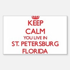 Keep calm you live in St. Petersburg Flori Decal
