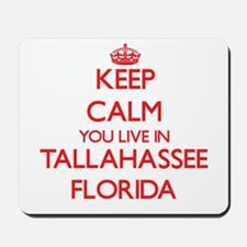 Keep calm you live in Tallahassee Florid Mousepad