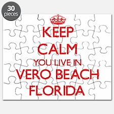 Keep calm you live in Vero Beach Florida Puzzle