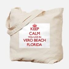 Keep calm you live in Vero Beach Florida Tote Bag