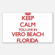 Keep calm you live in Vero Beach Florida Decal