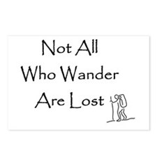 Not All Who Wander Are Lost Postcards (8)