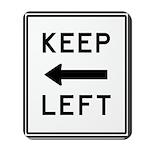 Keep Left Mousepad