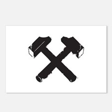Crossed Hammers Postcards (Package of 8)