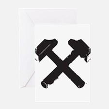 Crossed Hammers Greeting Cards