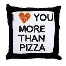 Cute I love you more than bacon Throw Pillow