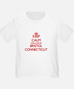 Keep calm you live in Bristol Connecticut T-Shirt