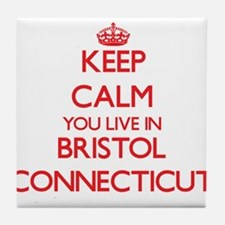 Keep calm you live in Bristol Connect Tile Coaster