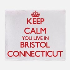 Keep calm you live in Bristol Connec Throw Blanket