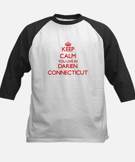Keep calm you live in Darien Conne Baseball Jersey