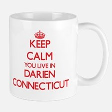 Keep calm you live in Darien Connecticut Mugs