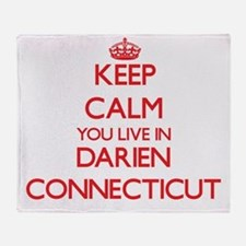 Keep calm you live in Darien Connect Throw Blanket