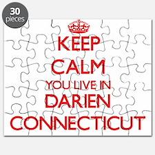 Keep calm you live in Darien Connecticut Puzzle