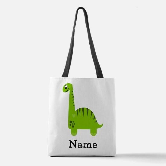 Green Dinosaur (p) Polyester Tote Bag