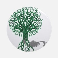 Green Celtic Tree of Life Ornament (Round)